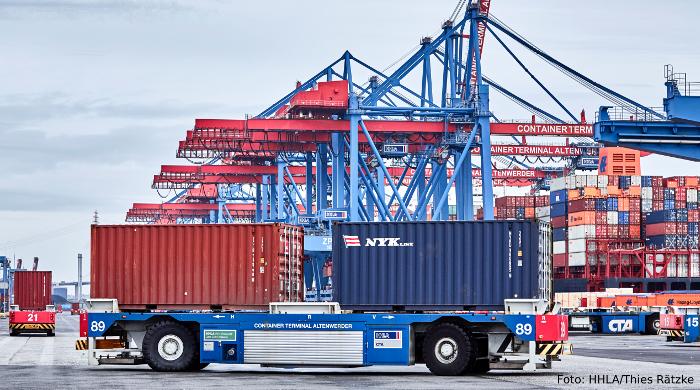 Ökostrom-Spitzen werden in Hamburg für Containerumschlag genutzt