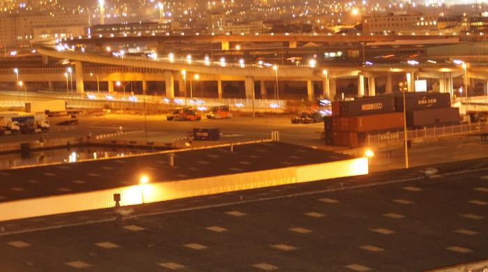 LED im Hafen