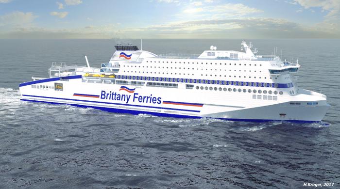 Die neue LNG-Fähre Honfleur von Brittany Ferries