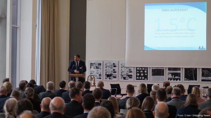 "Gavin Allwright auf der ""Sustainable Shipping 2017"" in Bremen"