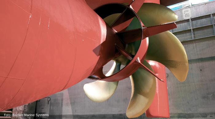 Spezialruder und Propellerdüsen von Becker Marine Systems machen Schiffe effizienter