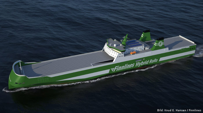 Neue RoRo-Schiffe mit Hybrid-Antrieb für Finnlines