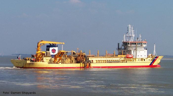 """Das Baggerschiff """"Samuel de Champlain"""" wird auf LNG-Antrieb umgerüstet"""