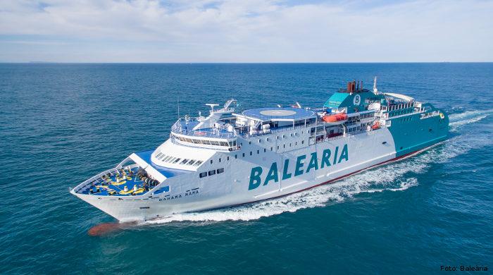 Fähre der Reederei Baleària, die auf LNG umgerüstet wird