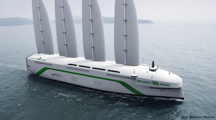 Wallenius Marine entwickelt Autotransporter mit Segel