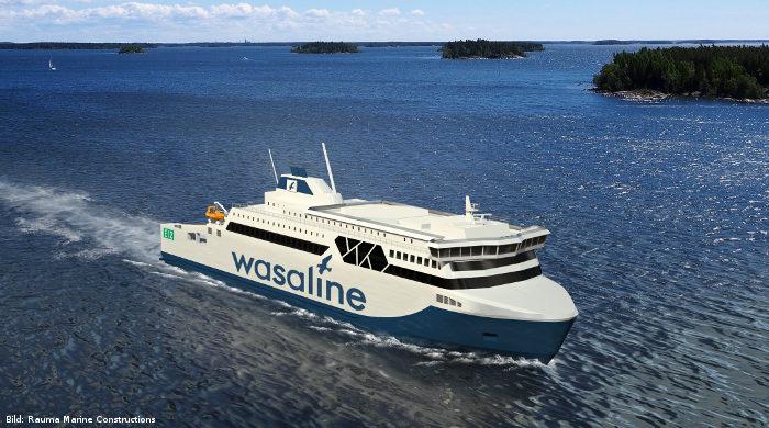 Neue Biogas-Fähre von Wasaline für die Route zwischen Umeå und Vaasa