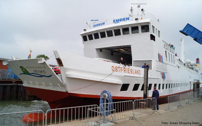 """Die auf LNG-Antrieb umgerüstete Fähre """"Ostfriesland"""""""