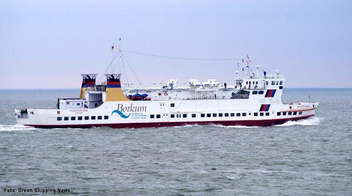 """Die """"Münsterland"""" wird als zweites Schiff der Reederei AG Ems auf LNG umgerüstet"""