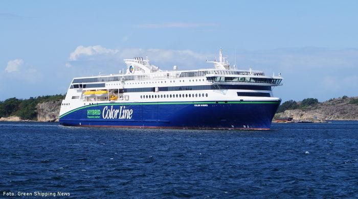 """Die neue """"Color Hybrid"""" von Color Line verkehrt zwischen Sandefjord in Norwegen und Strömstad in Schweden"""