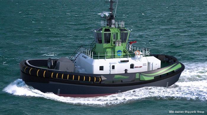 Ports of Auckland bestellt bei Damen Shipyards einen Elektro-Schlepper
