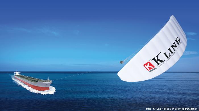 """K-Line erhält Zulassung für Praxistest mit dem Zugdrachen """"Seawing"""""""
