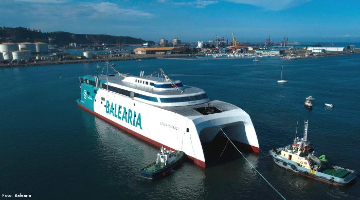 """Baleària präsentiert den LNG-Katamaran """"Eleanor Roosevelt"""""""