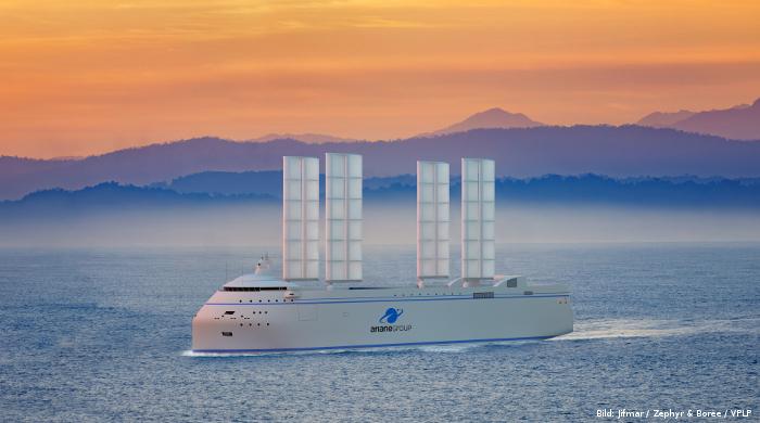 """Segelfrachter """"Canopée"""" soll Teile der Trägerrakete """"Ariane 6"""" transportieren"""