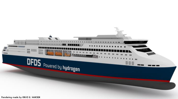 DFDS plant Mega-Fähre mit Wasserstoff-Antrieb