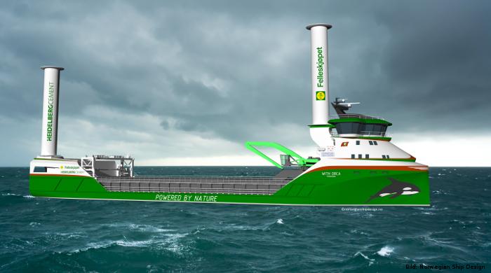 """Wind und Wasserstoff als Antrieb für das emissionsfreie Schiff """"With Orca"""""""